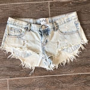 One Teaspoon- white washed - 'rollers' - Sz 29